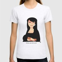 Mona Lisa pop icon Womens Fitted Tee Ash Grey SMALL