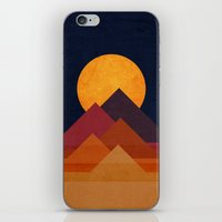 Full moon and pyramid iPhone & iPod Skin