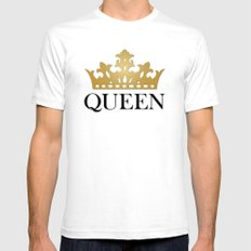 Queen White SMALL Mens Fitted Tee