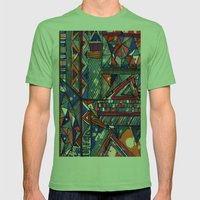 Tribal Texture Mens Fitted Tee Grass SMALL