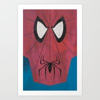 Minimal Spiderman Art Print