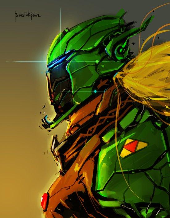 Legend of Zelda Link Cyber evolution Fan Art Art Print