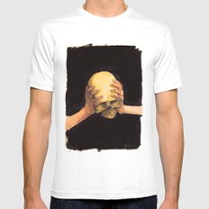 Head on Hands White SMALL Mens Fitted Tee