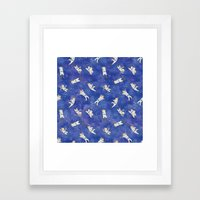 Space Astronauts Framed Art Print