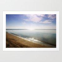 Ocean Glitter Art Print