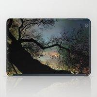 Night Fall By The Tree iPad Case