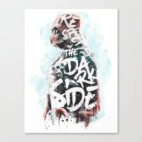 Respect the Dark Side Vader Canvas Print
