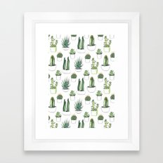 Watercolour Cacti And Su… Framed Art Print