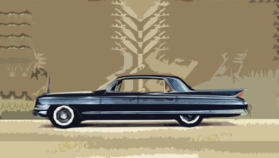 1961 Cadillac Fleetwood Sixty-Special ~ An Artist's Impression  Art Print