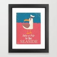 Framed Art Print featuring Take A Trip To The Seasi… by Nick's Emporium