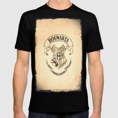 HOGWARTS Mens Fitted Tee Black SMALL