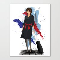 Come fly with me, let's fly, let's fly away - France Canvas Print