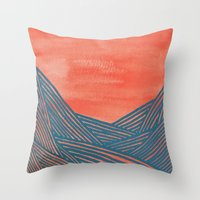 Watercolor 9 Throw Pillow