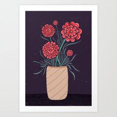Red Carnations Art Print