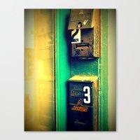 Mailboxes Canvas Print