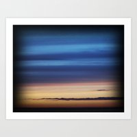 Blue Streaky Clouds Art Print