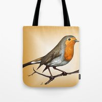 Robin Bird Tote Bag
