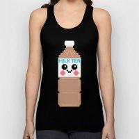 Happy Pixel Milk  Tea Unisex Tank Top
