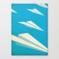 Paper squadron Canvas Print