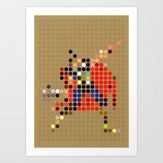 Mr Thunder Art Print