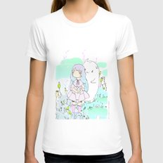 Le Ciel Womens Fitted Tee White SMALL