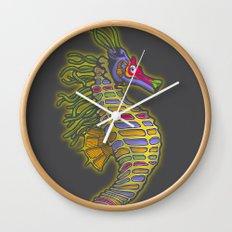 Crayon Pony Fish Wall Clock