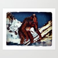 Bigfoot is Real Art Print