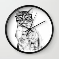 Mac Cat Wall Clock