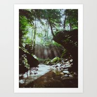 Streams of Light Art Print
