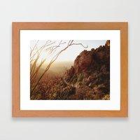 Desert Sunset Trail Framed Art Print