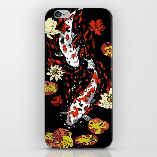 FALLING FISHES iPhone & iPod Skin