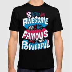 8yrs was Awesome! SMALL Black Mens Fitted Tee