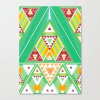 Triangle Indigenous Patt… Canvas Print