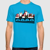 Small Town Mens Fitted Tee Teal SMALL