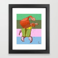 Walking Crab Framed Art Print