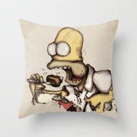 Simpson & C. A. K. E. Throw Pillow