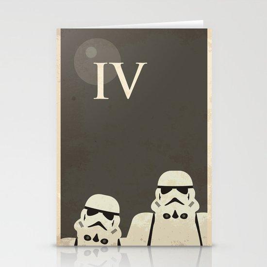 Star Wars Minimal Movie Poster Stationery Card