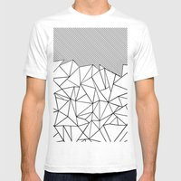 Ab Lines 45  Mens Fitted Tee White SMALL