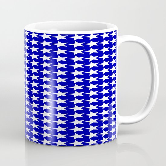 Blue white stars design mug by justbyjulie society6 for Blue mug designs