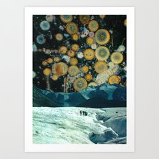 Welcome to space party Art Print