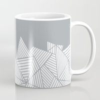 Abstract Mountain Grey Mug