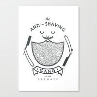 Anti-shaving Gang Canvas Print