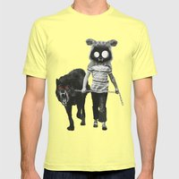 out for a walk Mens Fitted Tee Lemon SMALL