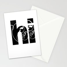Swirly hello Stationery Cards
