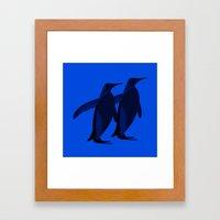 Penguins mate for life Framed Art Print