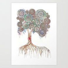 Broken Tree Art Print