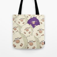 Sheep Pattern | Purple Tote Bag