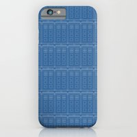 iPhone & iPod Case featuring TARDIS Blueprint Pattern - Doctor Who (Version 2) by Corrie Jacobs