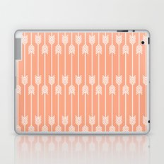 Peach and White Arrows /// www.pencilmeinstationery.com Laptop & iPad Skin