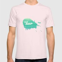 Oh Dear Mens Fitted Tee Light Pink SMALL